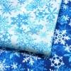Ткань со снежинками