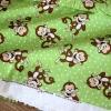 Ткань с обезьянами